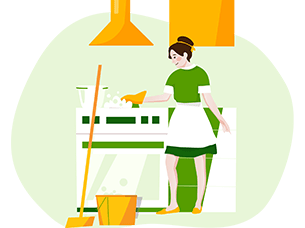 Recurring house cleaning service